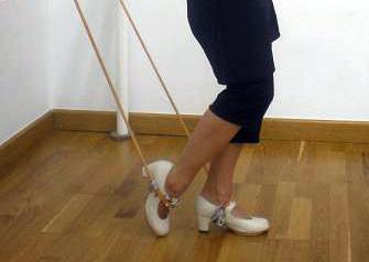 Fuerza de piernas Gomas ajustadas a los tobillos para la fuerza