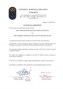 Letter of Agreement Univ Krakow EF