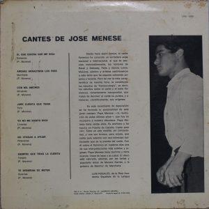 Cantes de José Menese Contraportada 1965