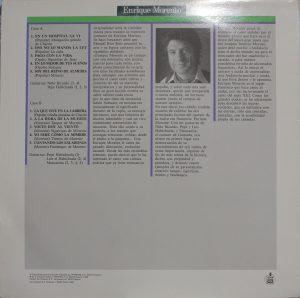Enrique Morente Contraportada